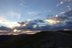 Transalpina - zachód słońca