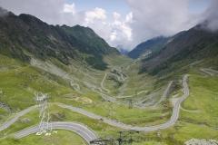 Podjazd północny widziany z przełęczy